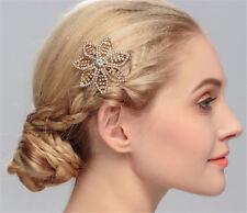 Floral Hair Comb Diamante Wedding Headdress Crystal Bridal Accessories 1 Piece
