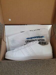 Adidas Superstar Mens White Size 10 Uk