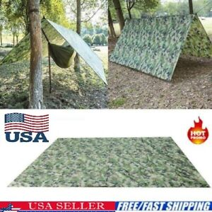 Ultralight Tarp Outdoor Camping Survival Sun Shelter Shade Awning Camouflage- US