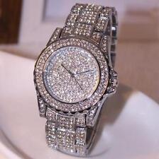 alla moda da donna orologi Strass Bling Cristallo analogico al quarzo abito