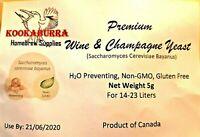 Premium Wine & Champagne Yeast (H2S Preventing & Non GMO) Home Brew, Free Post