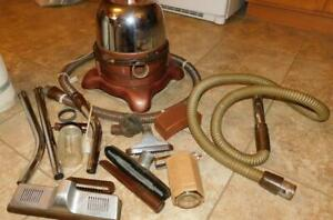 21 #1623 Vintage Model D Rainbow Canister Vacuum & Lots of Accessories Working