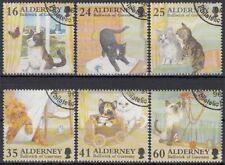 Alderney MiNr. 94/99 O Katzen