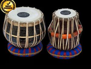 Black Pro Brass Tabla Set Bayan Handmade Dayan+Hammer+ Rings & Box Free 111