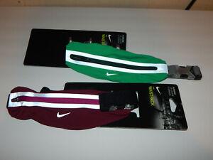 Nike Running Reflective Waistpack Pair Maroon & Green Waist Pack Belt Pack
