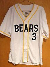 Bad News Bears #3 Kelly Leak Baseball Jersey Sewn Numbers S, M, L, XL,XXL, XXXL