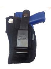 """Gun holster Fits Walther p22 3.4"""" Barrel with Laser Black OWB Belt Holster"""