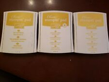 3 Stampin Up ink Pads of Yellow shades  INK LOT of 3