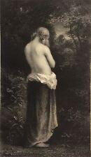 Dans les bois  lithographie de Loutrel d'après Diaz l' Artiste en 1860 nu