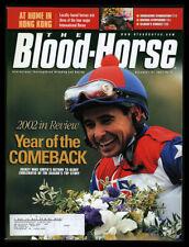 2002 Blood Horse Magazine(Dec 21) Comeback Smith Valenzuela Dolase Krone Sanan