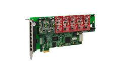 OpenVox A800E25 8 Port Analog PCI-E Base card + 2 FXS + 5 FXO, Ethernet (RJ45)