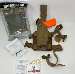 Safariland 6004USN SLS Tactical Cordura Coyote LH LEFT Holster GLOCK 17 19 22 23
