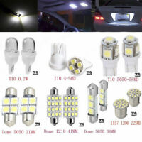14x White LED Interior Package Kit T10&36mm Map Dome License Plate Lamp Light .N