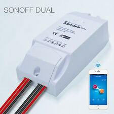 Sonoff ITEAD Dual WiFi Wireless Smart Swtich Module ABS Shell Socket for DIY