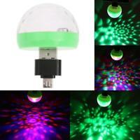 Mini USB LED Discokugel Lichteffekt Magic DJ Party Lichtorgel Bühnenbeleuchtung