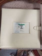 Extra Large Cream Faux Leather Photo Picture Scrapbook Album Ships Tomorrow