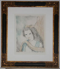Listed French Artist Marie Laurencin Signed Color Lithograph