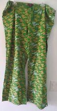womens PLUS size 1X green yellow APPLE BOTTOMS SLEEP PANTS lounge wear PULL STRI