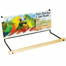 Patio Perch Hook On Anywhere for Small Birds Parrots Budgies Lovebirds Small 8""