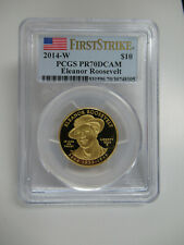 US 2014 W First Spouse Series E. ROOSEVELT $10 GOLD COIN PCGS Graded PR70 DCAM