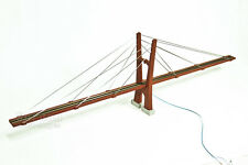"N Scale 30"" (400') Cable-Stayed Suspension Bridge with LEDs, Fully Assembled"