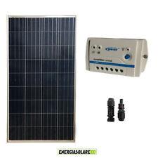 Kit Starter Pannello Solare Fotovoltaico 150W 12V Regolatore PWM 10A 12V Epsolar
