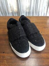 "Womens DV Dolce Vita Sz 8/38.5 Slip-On 1.25"" Platform Knit Sneaker Black Sequin"
