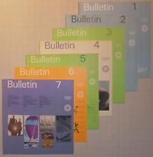 Bulletins - kompletter Satz - Olympiade 1972 München - Otl Aicher -olympic games
