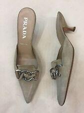 Beige Prada Kitten Heels, Size 37