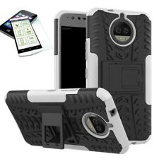Hibrido Funda Estuche Exterior 2 Piezas Blanco para Motorola Moto G5S PLUS +