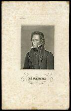 Nicolò PAGANINI (Violinist): Engraved Portrait