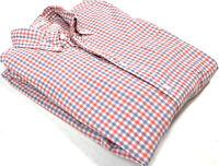 Gant Mens L Rugger Oxford in Madras Check Button Front Dress Shirt Cotton Plaid