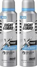 LOT OF 2 Right Guard Xtreme Arctic Refresh Dry Spray 96 Hours Protection. 4.0 oz