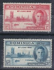 1946 GVI DOMINICA VICTORY SET MOUNTED MINT SG110/111