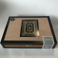 CIGAR Box Dapper La Madrina Robusto Skeleton Hand Rose EMPTY Wooden Storage