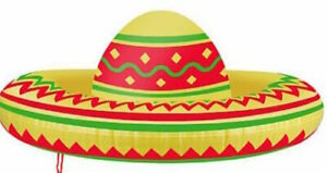 Inflatable Sombrero 53cm Mexican Fancy Dress Prop
