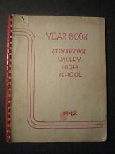 1942 Stockbridge Valley High School YEARBOOK Munnsville, New York
