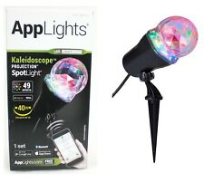 Gemmy AppLights LED Lightshow Kaleidoscope Projection Spotlight Stake 49 Effects