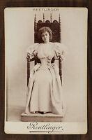 Jeanne Darlaud, Actrice Théâtre Comédie-Française Photo Cabinet card Reutlinger