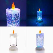 Vela Luz LED Multicolor con Liquido y Purpurina en Movimiento, llama parpadeante