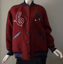 Coach Women's Boyfriend Varsity Crimson/Black Jacket F24192 Size L