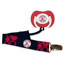 BOSTON RED SOX BABY PACIFIER WITH CLIP NEW BPA FREE NEW & OFIICIALLY LICENSED