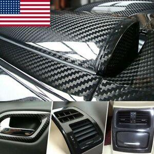7D-Glossy Carbon Fiber Vinyl Film Car Interior Wrap Stickers Auto Accessories