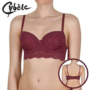 40C Cybele by Naturana Long line Underwired Bra Red
