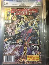 Guardians Of The Galaxy #1 CGC 9.0 1990 Taserface 1st appearance White #8027