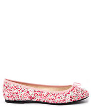 London Sole Women's Pink Classic Phoebe Print Ballet Flats 6 $128 *ns5/17