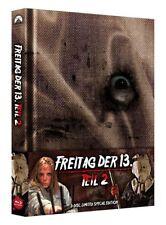 BLU-RAY & DVD MEDIABOOK - FREITAG DER 13. - TEIL 2 - 3 DISK LIMI SPECIAL EDITION