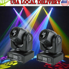2PACK RGBW LED Stage Lights Moving Head Auto DMX512 DJ Disco Party KTV Lighting