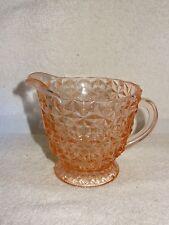 Vintage Pink Pressed Glass Starburst Creamer