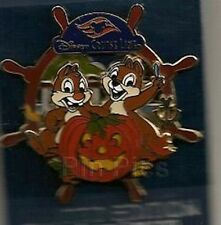 DISNEY PIN CHIP AND DALE HALLOWEEN WHEEL PUMPKIN DCL CRUISE LINE NEW HTF